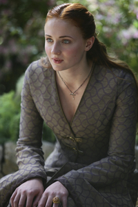 Who was Sansa talking to in this picture?