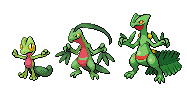 How long did it take Ash's Treecko to fully evolve into Sceptile?