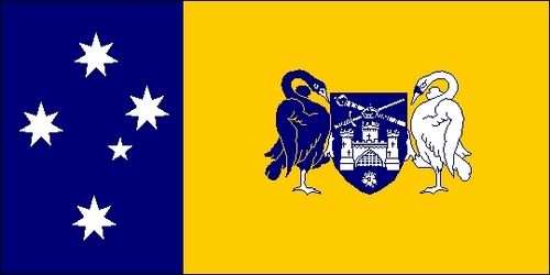 The capitol flag is