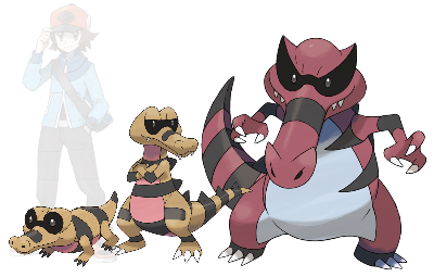 How long did it take for the sunglasses Sandile to fully evolve into Krookodile?