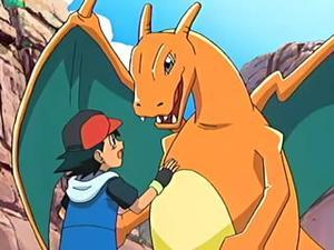 Currently, where is Ash's Charizard?