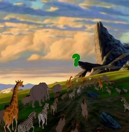 At the end of first movie, who were standing on Priderock ?