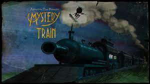 "What color is the blindfold finn wore in the episode ""Mystery Train"" ?"