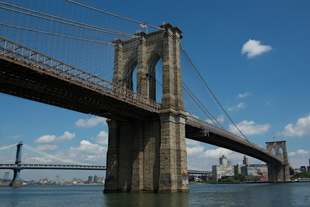 How many times do we see the Brooklyn Bridge in the film?