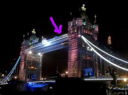 What is the order of the guys on the bridge scene? (Midnight Memories)