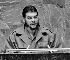 When did Che give his historical speech at the UN general assembly ?