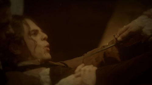 In 2x02, where and when was Kol stabbed Von Klaus the first time?