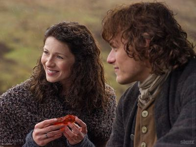 What insect is in the object that Claire is holding?
