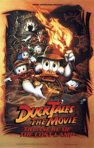 What năm was 'DuckTales the Movie: Treasure of the Mất tích Lamp' released to theaters?