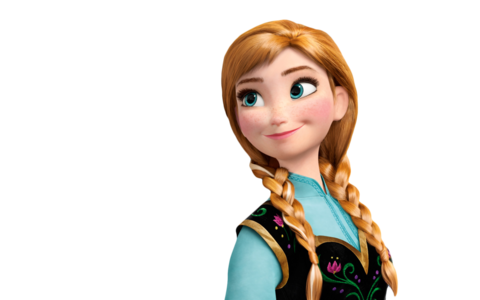 When Elsa's power touched Anna, her hair became -