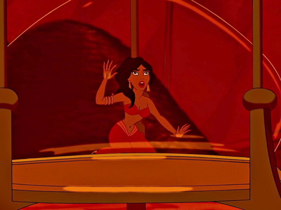 "Originally, during the climax of ""Aladdin"", Jasmine was going to rescue herself from the hourglass."
