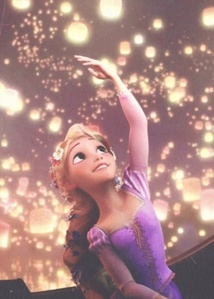 When Rapunzel was on the mashua with Eugene, what lantern did she send back into the sky?