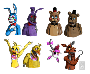 Which animatronic had it s name changed in fnaf 2 quiz results the