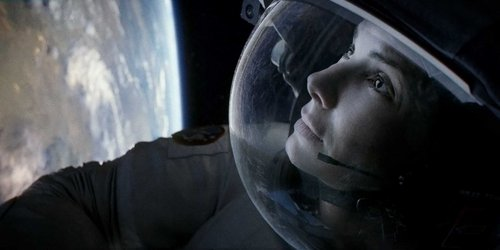 Which country did Sandra live in whilst making 'Gravity' ?