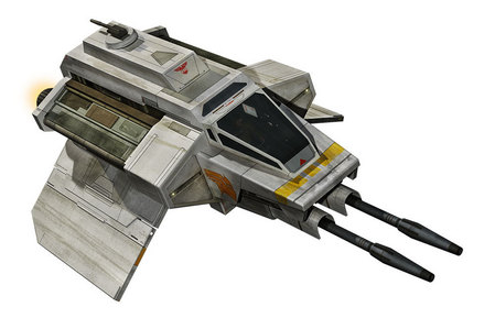 What is the name of the attack shuttle that docks on the back of the Ghost?