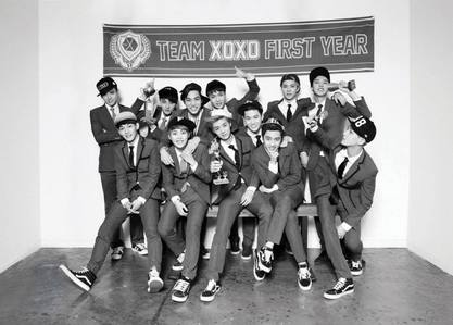 In the 12 member's of EXO, who are the 3 member's known to be in the vocal line of the group?