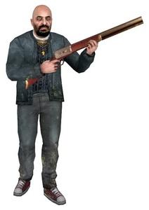What's the name of Father Grigori's gun?