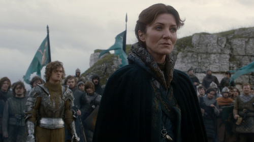 What does Catelyn NOT say in this scene?