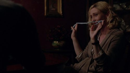 To whom belonged the lace that Norma has in her hands?