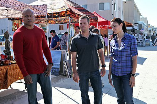 What episode did the characters from the spin off of NCIS make an appearance?