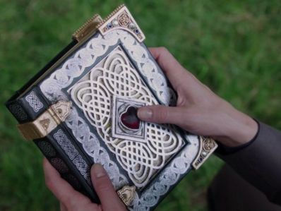 Who did the spell book originally belong to?