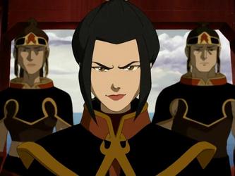 "True o False: Azula was seen in the whole ""Legend of Korra"" series"