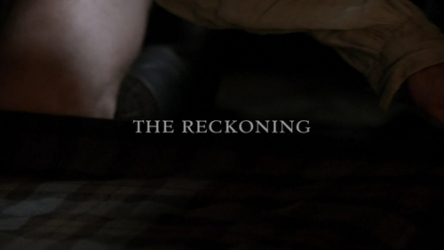 "Whose voice-over is shown in ""The Reckoning"" (1x09)?"