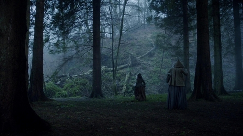 "Why do Claire and Geillis take separate ways in ""By the Pricking of My Thumbs"" (1x10) when they are in the woods?"