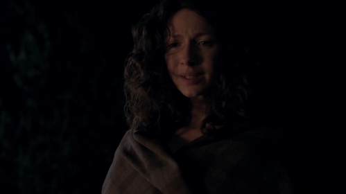 "What are Claire's first words after her decision in ""The Devil's Mark"" (1x11)?"