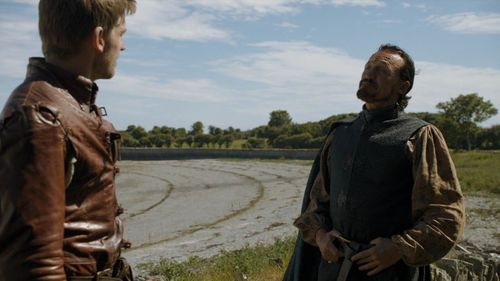"What does Jaime ask Bronn in ""The House of Black and White"" (5x02)?"