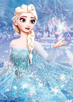 Who voiced Adult Elsa?