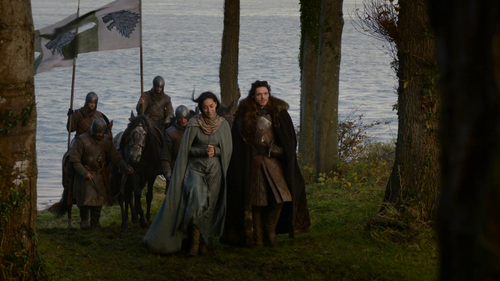 Which of these things does Robb & Talisa talk about in this scene?