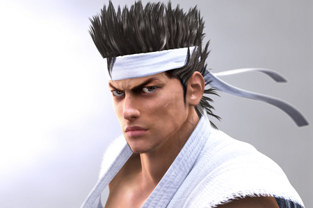 This man that sports the white karate gi is known as...
