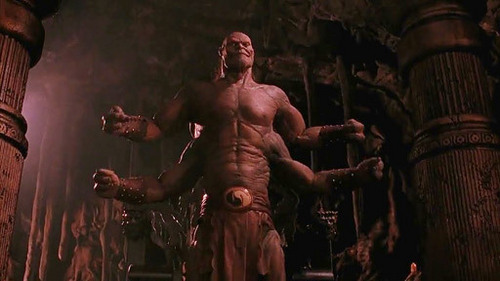 Who sent Goro to his doom in the Mortal Kombat film?