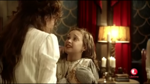 Who portrayed the little girl's father on a tv show?