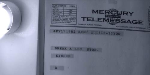 "A's Messages: Who got this text: ""BREAK A LEG. STOP. KISSES, A ""?"