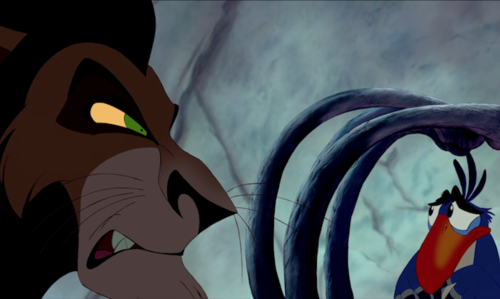 """Lion King: When Zazu starts hát """"It's a Small World,"""" what is Scar's reply?"""