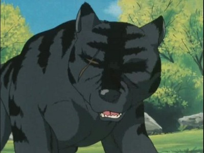 what colour is kurotoras eye in the ginga nagareboshi gin ANIME?