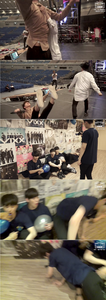 What do the members call Hyuk when he acts big and strong, for example throwing around his hyungs?