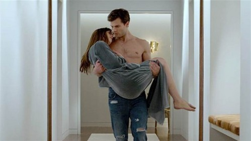 Ana and Christian first end up in bed together after ______.