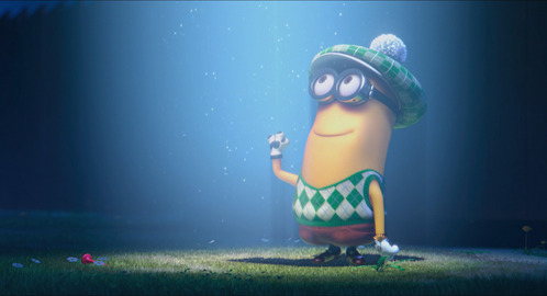 DESPICABLE ME 2: Who is he waving to?