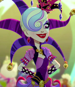 "What is the occupation of Courtly Jester, the main villainess of Ever After High's ""Way Too Wonderland""?"
