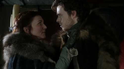 What did Catelyn say to Robb in this scene?