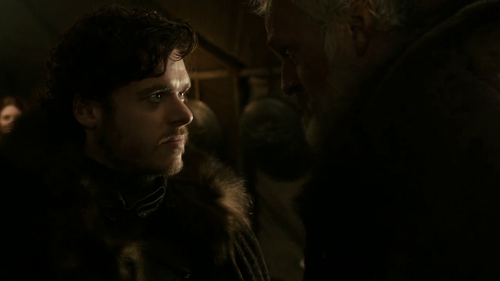"When Robb let the Lannister scout go and the Great Jon zei ""Are u touched boy? Letting him go?"" What was Robb's response?"