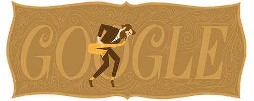 google celebrating Adolphe Sax's ____ Birthday. (November 6, 2015)