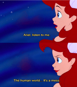 Who is talking to Ariel ?