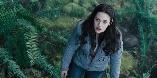 She is looking at Edward.