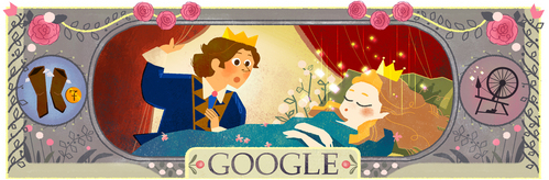 google celebrating Charles Perrault's _______ Birthday (January 12,2016.)