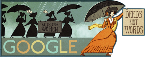 Google celebrating Alice Paul's _____ Birthday (January 11,2016.)