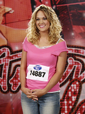 What jaar did Carrie audition for American Idol?
